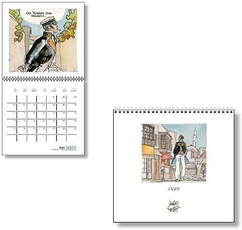 Calendario de pared 2021 Corto Maltés 30x30cm 24447