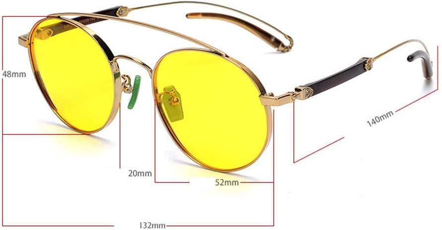 WWFF Big Border Pure Titanium Color Film Glasses Polarized Sunglasses UV400 Protection popular Color : Blue