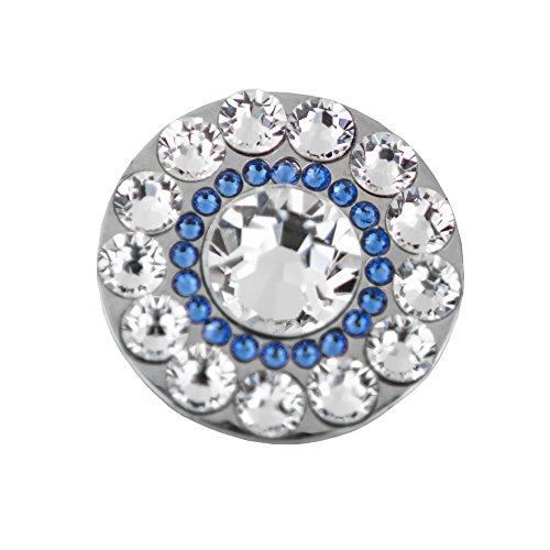 Swarovski Crystal Golf Ball Markers - Premium Golf Gifts for Women by Girls Golf Bling (Spyglass Hill Blue, Regular)