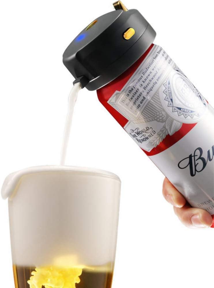 QYC Dispensador de Cerveza,Espumador de Espuma de Cerveza en Lata,Portátil Vibración Ultrasónica,Cremosa Espuma Servidor,Enriquece Sabor Fresco,Usado para Cocina Comedor Bar al Aire Libre Barbacoa