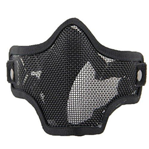 Máscara de Airsoft QMFIVE Malla de Acero Táctico Mascaras Mascara de Media Cara el Engranaje Protector para Airsoft Paintball(Black): Amazon.es: Deportes y ...