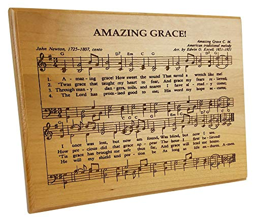 - Imprints Plus Laser Cut Alder Wood Amazing Grace Plaque Hand Finished and Lacquer Coated (AW CR 7016)