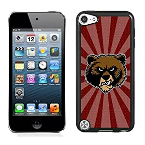 Customized Ipod 5 Case with NCAA Big Sky Conference Football Montana Grizzlies 7 Protective Cell Phone Hardshell Cover Case for Ipod 5th Generation Black
