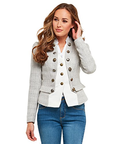 Joe Browns Womens 2 in 1 Waistcoat Jacket with Military Styling Multi