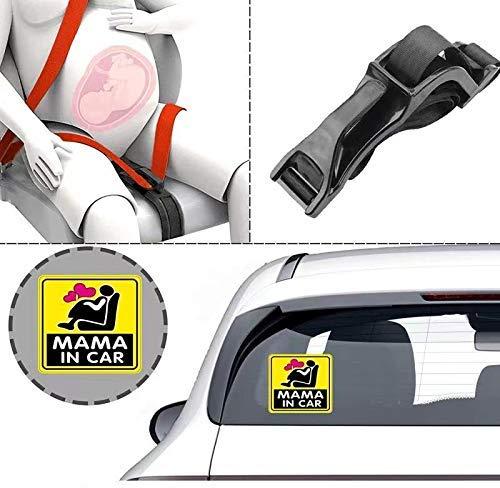 Pregnancy Car Seat Belt Adjuster Comfort and Safety for Maternity Moms Belly Protect Unborn Baby Pregnant Woman Driving Safe Belt Hook (Black)