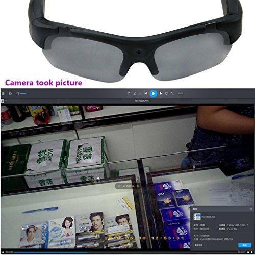 29f65c168b4 ZIMINGU 1080p Camera Glasses Video Recording 5MP Hidden Camera HD Eyewear Camcorder  Sunglasses for Sports Running ...