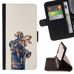 Momo Phone Case / Flip Funda de Cuero Case Cover - Lanzamientos de cohetes divertido Iguana;;;;;;;; - Samsung Galaxy J1 J100