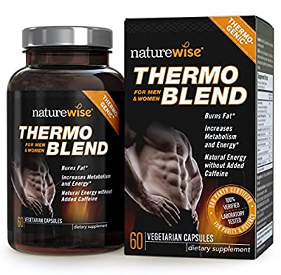 NatureWise Thermo Blend Vcaps Plus **NEW Advanced Formula** Thermogenic Fat Burner for Weight Loss and Natural Energy, 60 count