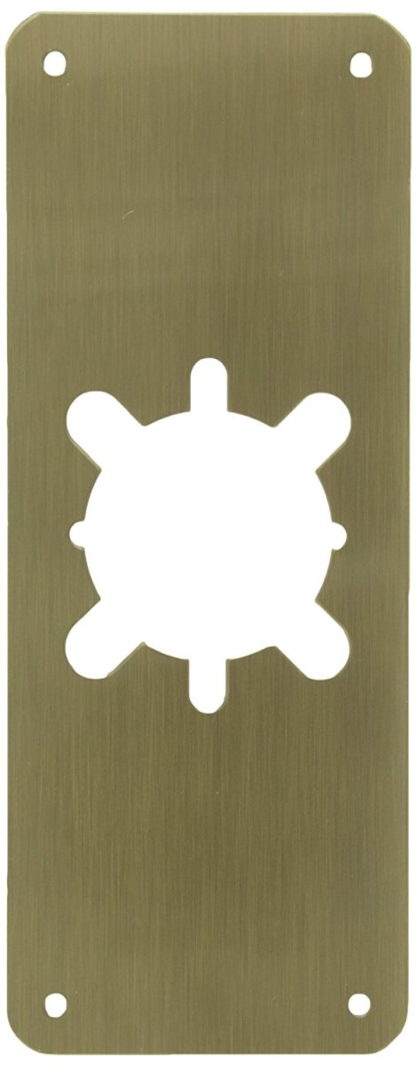 Don-Jo RP-13509-630 Satin Stainless Steel Remodeler Plate, 3-1/2'' x 9''