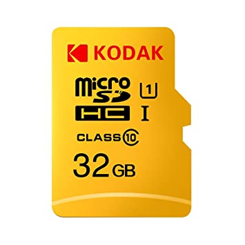 Grborn Kodak Tarjeta Micro SD Tarjeta de Memoria 32GB TF Class10 C10 U1 Velocidad rápida