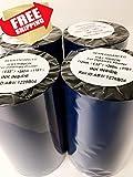 AVG Packaging Supplies 4-Thermal Transfer Printer Ribbon Rolls for Datamax Printer 4.33' x 1181'/110mm x 360m Black Standard Resin-Enhanced Wax Ribbons. Free and Same Day Shipping.