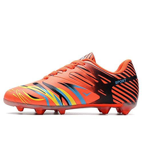 Calzado Entrenamiento Naranja Para Botas Hombres Antideslizante Fútbol Al Y Desgaste De Resistente qfww7xXPI