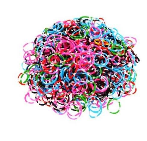 UPC 691052346453, Ateam 600 Pieces Various Color Selection Loom Bandz with 25 Clips (1 Hook for Metallic Color & Tie Dye) (Tie Dye Dark)