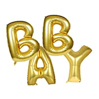 Decorations of Cute Gold Alphabet Letters Balloons Bunting Banner Foil for Birthday Party Marriage Proposal and House Decorating (16 Inch Can Not F
