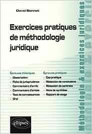 Exercices pratiques de méthodologie juridique Méthodologie et exercices juridiques: Amazon.es: David Bonnet: Libros en idiomas extranjeros