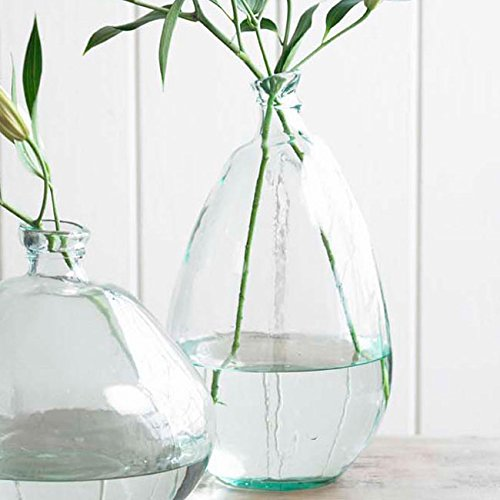 Amazon Clear Tall Recycled Glass Balloon Vase 19 Home Kitchen