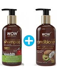 WOW Apple Cider Vinegar Shampoo + Wow Hair Conditioner Set (300ml each) - Sulphate & Paraben Free (1 Pack Combo)
