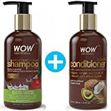 WOW Apple Cider Vinegar Shampoo + WOW Hair Conditioner Set (10fl.oz each) - No Sulphates or Parabens (1 Pack Combo)