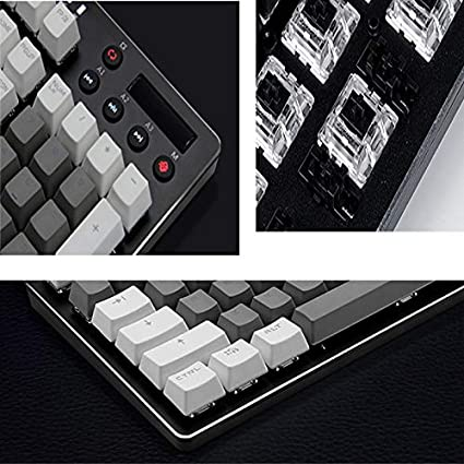 Color : F Jian E -/& Mechanical Gaming Keyboard RGB Backlight //-// Cool Backlit Keyboard//Notebook Desktop Computer Wired USB Out Interface Keyboard