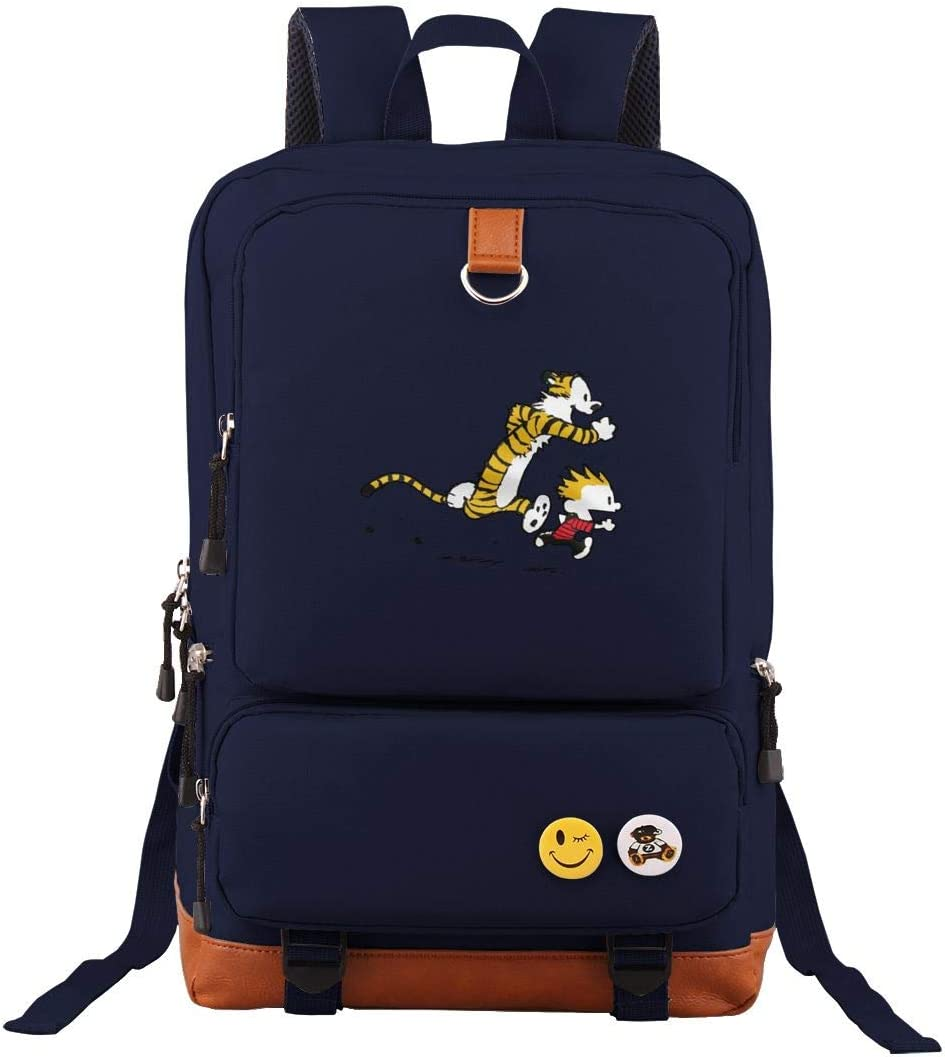 Tour Backpack Calvin And Hobbes Tiger Laptop Bag Fashion Bookbag Students Daypack