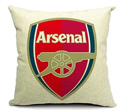 East Melody® Cotton Linen Throw Pillow Case Cushion Cover Home Sofa Decorative 18 X 18 Inches / 45 X 45 cm, Football Club Badge (Arsenal)