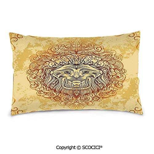 SCOCICI Customized Printed Cotton Rectangle Pillow Case,20