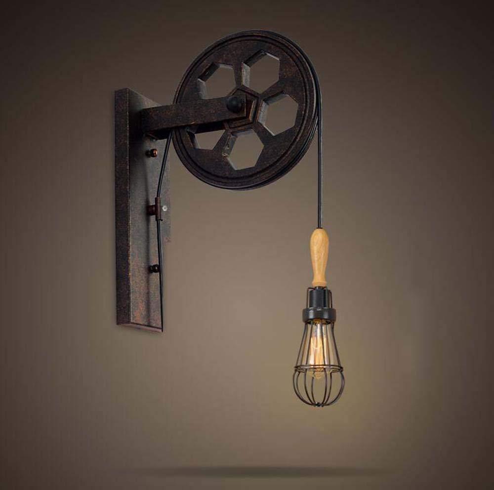 FuweiEncore Irons Industrial Retro Style Kreative Persönlichkeit Wandleuchte ErHöhen Sie Das Restaurant Walking Corridors Wandleuchte, Zwölf Arten von Stilen der Kommission (Farbe  ) (Farbe   H)