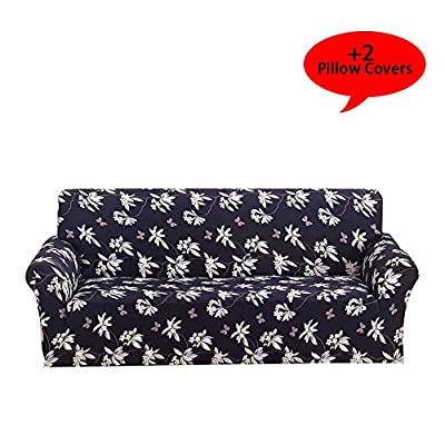 Aibixi Stretch Sofa Slipcover Printed Sofa Cover Spandex Fabric Couch Covers Stylish Furniture Shield/Protector