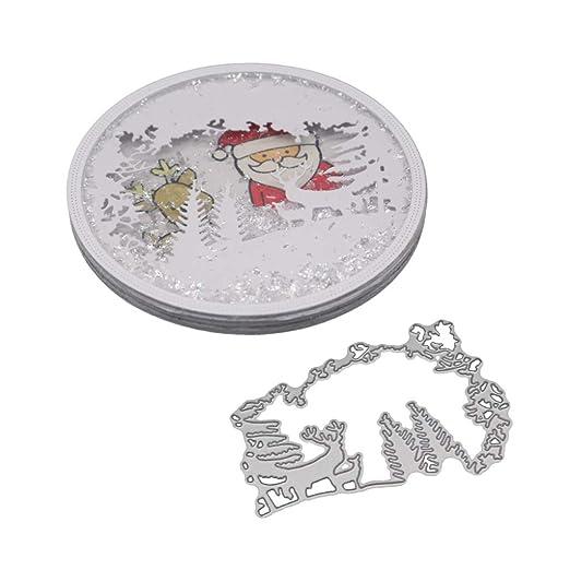 exing Navidad alce Metal – Troquel troqueles Cutting Esto Stencil, para scrapbooking tarjeta Her espacios Papel Álbum de artesanía decoración