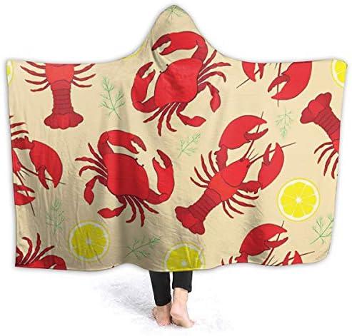 Lobster NoSew Fleece Blanket