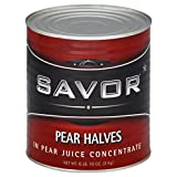 Savor, Pear Halves in Natural Juices 6 lb (10 count)