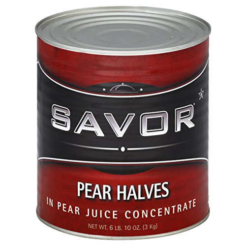 Savor, Pear Halves in Natural Juices 6 lb (10 count) by Savor