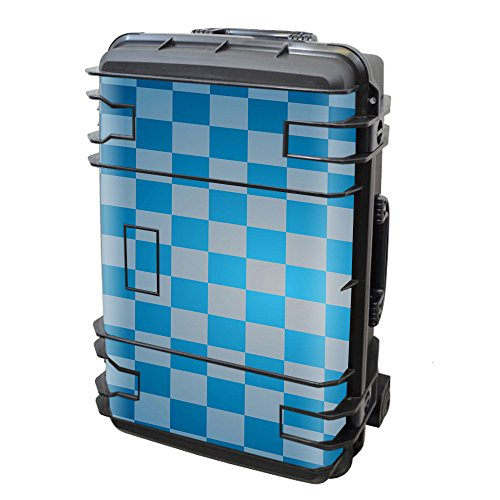 Skin Decal Vinyl Wrap for Seahorse SE-920 Case stickers skins cover/ Blue Grey Checkers