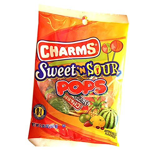Charms Sweet 'N Sour Pops Lollipops, 3.85 oz Bag (Sour Sweet Lollipops)