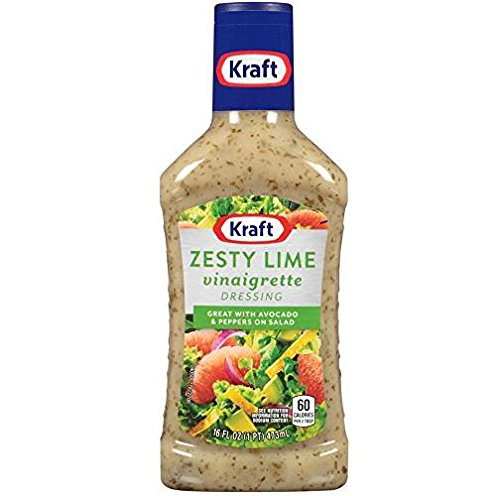Kraft Zesty Lime Vinaigrette Dressing (Pack of 3) 16 oz Bottles ()