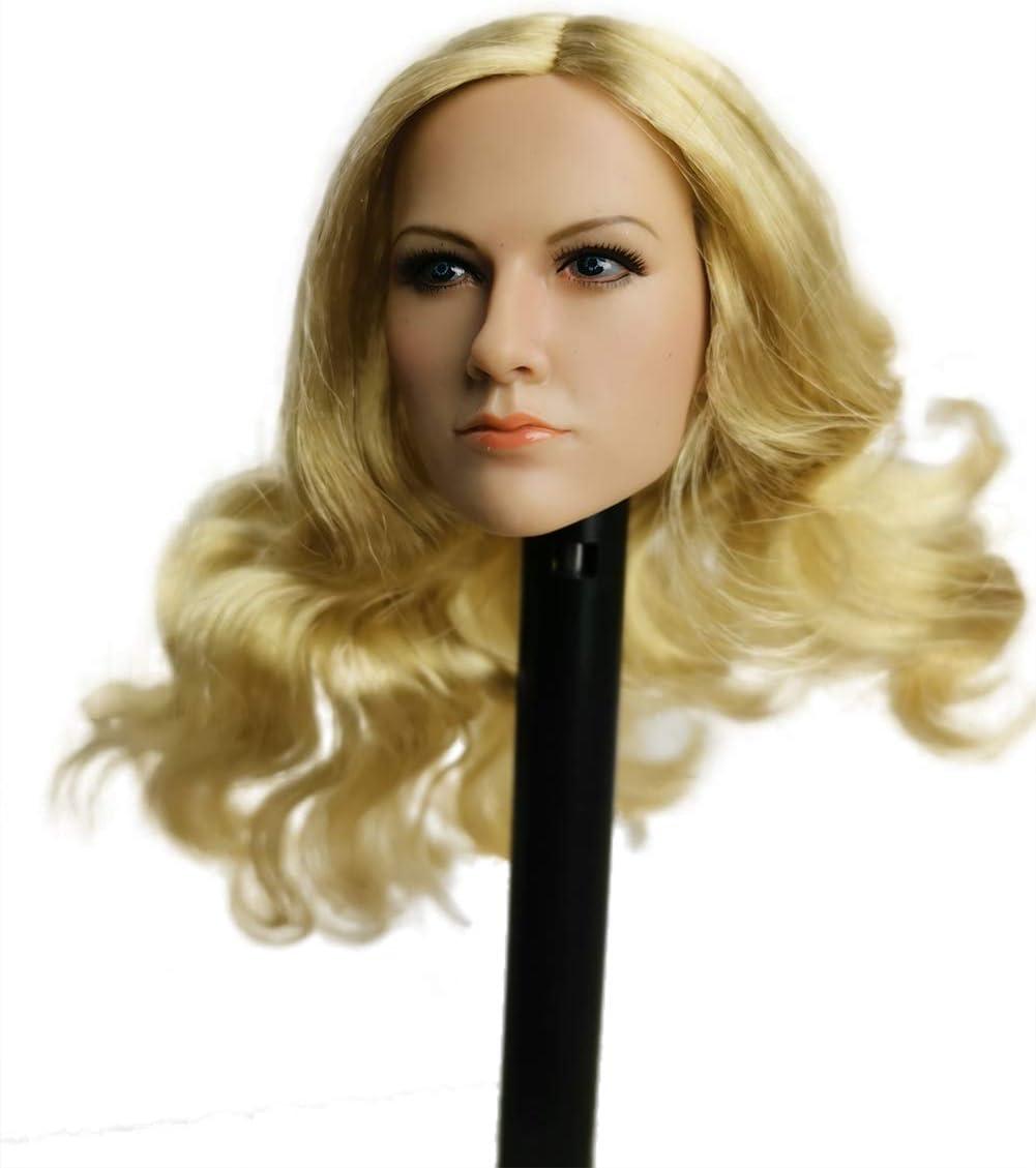 YM TOYS 1//6 Girl Head Sculpt Blonde Hair for 12/'/' Female Figure Pale PHICEN TBL