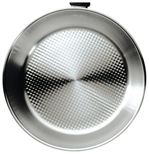 "Kuhn Rikon Silver Star Frying Pan with Super Thermic Sandwich Base, 10.25"", Stainless Steel"