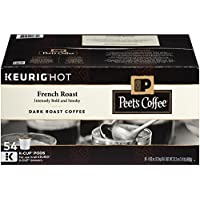 Peet&#39s Coffee French Roast K-Cup Pack 54 Count Single Serve Coffee Cups