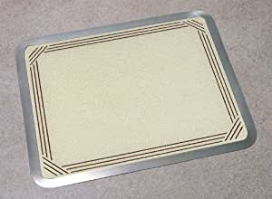 Vance 12 X 15 inch Almond Border Built-in Surface Saver Tempered Glass Cutting Board, 71215AB
