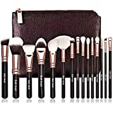 Doit Avoir Professional 15 pcs Natural Hair Makeup Brush Sets - Wooden Handle, Natural Super Soft Hair Professional Makeup Br