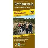 Rothaarsteig, Brilon - Dillenburg: Leporello Wanderkarte mit Ausflugszielen, Einkehr- & Freizeittipps und Zugangswegen, GPS-genau. 1:25000 (Leporello Wanderkarte/LEP-WK)