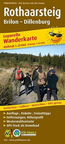 Rothaarsteig 438 Leporello Hiking Map Gp