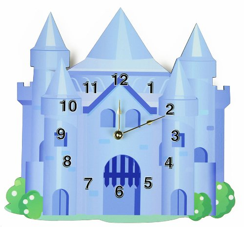 Rikki Knight Blue Castle Wall Clock