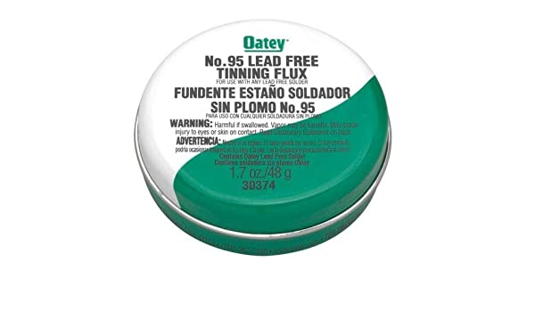 Amazon.com: No. 95 Tinning Flux - Lead Free - Carded by Oatey: Home & Kitchen