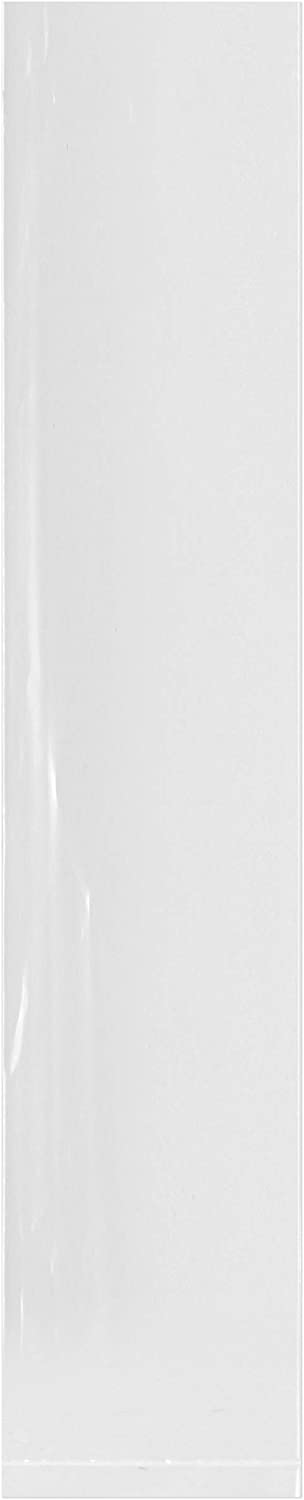 "Plymor Flat Open Clear Plastic Poly Bags, 2 Mil, 2"" x 10"", case of 1000"