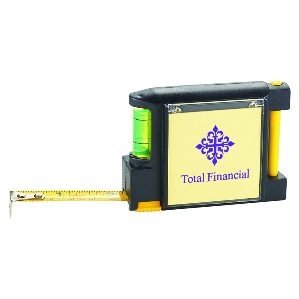 Work Mate 3 In 1 Tape Measure With Pad Pen And Leve - 144 Quantity - $3.45 Each - PROMOTIONAL PRODUCT / BULK / BRANDED with YOUR LOGO / CUSTOMIZED by Sunrise Identity (Image #2)