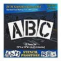 """Pavement Stencils - 24 inch Alphabet KIT Stencil Set - (28 Piece) - 24"""" x 16"""""""