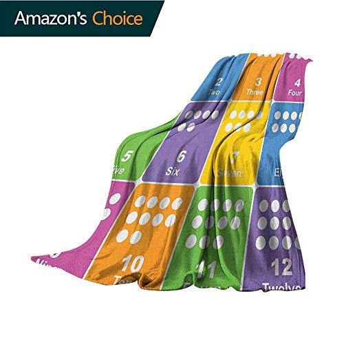Cheap Kids Activity Outdoor Blanket Learning The Numbers Themed Educational Design Colorful Preschool Pattern Weighted Blanket for Adults Kids Better Deeper Sleep 60