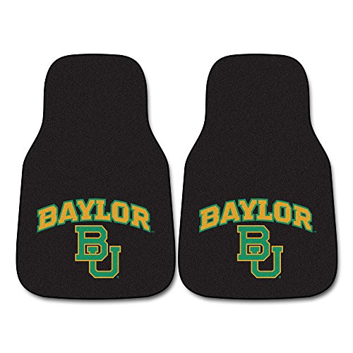 (FANMATS NCAA Baylor University Bears Nylon Face Carpet Car Mat)