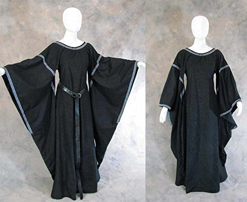 Medieval Bell Sleeve Dress Gown SCA Game of Thrones Cosplay Renfaire LOTR LARP